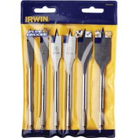 Irwin 6 Piece 4X Blue Groove Flat Wood Drill Bit Set