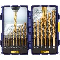Irwin 15 Piece HSS Titanium Drill Bit Set