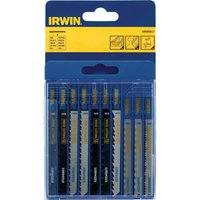 Irwin 10 Piece Assorted T Shank Jigsaw Blade Set