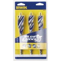 Irwin 3 Piece Blue Groove 6X Wood Drill Bit Set