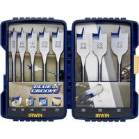 Irwin 8 Piece Blue Groove 4X Flat Wood Drill Bit Set