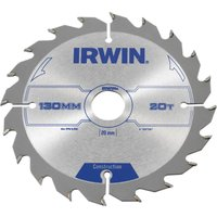 Irwin ATB Construction Circular Saw Blade 130mm 20T 20mm