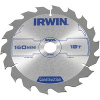 Irwin ATB Construction Circular Saw Blade 160mm 18T 20mm