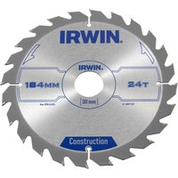 Irwin ATB Construction Circular Saw Blade 184mm 24T 30mm