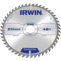 Irwin ATB Construction Circular Saw Blade 216mm 48T 30mm