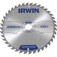 Irwin ATB Construction Circular Saw Blade 250mm 40T 30mm