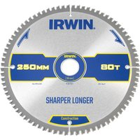 Irwin ATB Ultra Construction Circular Saw Blade 250mm 80T 30mm