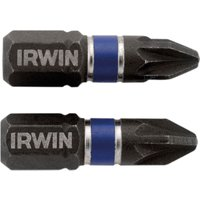 Irwin Impact Pozi Screwdriver Bit PZ2 25mm Pack of 20
