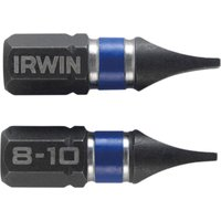 Irwin Impact Slotted Screwdriver Bits 8mm 25mm Pack of 2