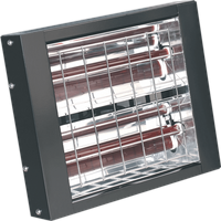 Sealey Wall Mounted Infrared Electric Heater 240v 3000 Watts