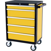 Kincrome Evolve 5 Drawer Tool Roller Cabinet Yellow