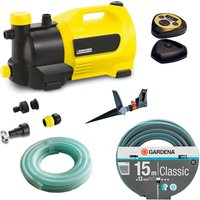 Karcher GP 50 MC Surface Water Pump with Garden Hose & Pulsating Sprinkler Kit 240v
