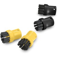 Karcher Round Brushes for SC, DE and SG Steam Cleaners Pack of 4