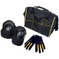Kunys Tool Bag, Knee Pads & Work Gloves Set