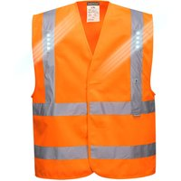 Portwest Vega Class 2 Hi Vis LED Waistcoat Orange 2XL / 3XL