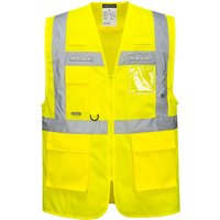 Portwest Orion Executive Class 2 Hi Vis LED Waistcoat Yellow 2XL