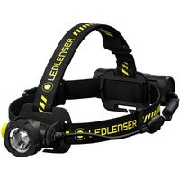 LED Lenser H7R WORK Rechargeable LED Head Torch Black and Yellow