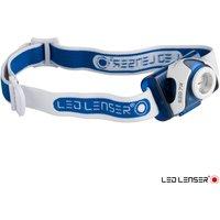 LED Lenser SEO7R Rechargeable LED Head Torch Blue