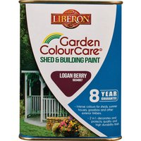 Liberon Shed & Building Exterior Paint Logan Berry 1l