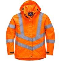 Oxford Weave 300D Ladies Class 3 Hi Vis Jacket Orange XL