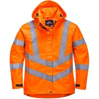 Oxford Weave 300D Ladies Class 3 Hi Vis Jacket Orange S