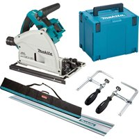 Makita DSP600ZJ Twin 18v LXT Cordless Brushless Plunge Saw Kit No Batteries No Charger Case