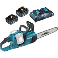 Makita DUC353 Twin 18v LXT Cordless Chainsaw 2  x 6ah Li-ion Charger