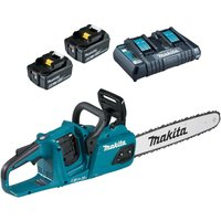 Makita DUC405 Twin 18v LXT Brushless Chainsaw 2  x 6ah Li-ion Charger