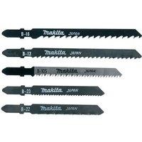Makita 5 Piece Wood and Metal Cutting Jigsaw Blades Set