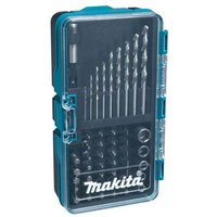 Makita 48 Piece HSS G Drill and Screwdriver Bit and Socket Set