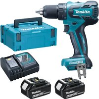 Makita DDF459 18v Cordless LXT Brushless Drill Driver 2 x 4ah Li-ion Charger Case