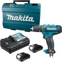 Makita DF331 10.8v Cordless CXT Drill Driver 2 x 2ah Li-ion Charger Case