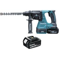 Makita DHR243 18v Cordless LXT Brushless SDS Hammer Drill 2 x 4ah Li-ion Charger Case