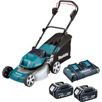 Makita DLM460 Twin 18v LXT Cordless Brushless Rotary Lawn Mower 2  x 6ah Li-ion Charger