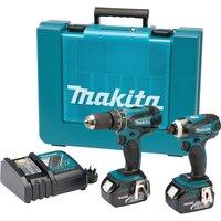 Makita DLX2012 18v Cordless LXT Combi Drill & Impact Driver Kit 2 x 3ah Li-ion Charger Case