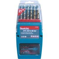Makita 21 Piece Drill and Screwdriver Bit Set