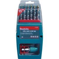 Makita 15 Piece Drill & Screwdriver Bit Set