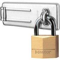 Masterlock Solid Brass Padlock & Steel Hasp 40mm Standard