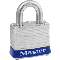 Masterlock Laminated Steel Padlock Pack of 2 Keyed Alike 38mm Standard