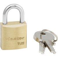 Masterlock V Line Brass Padlock 20mm Standard