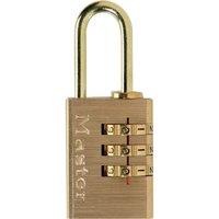Masterlock Brass Finish Combination Padlock 20mm Standard
