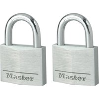 Masterlock Aluminium Padlock Pack of 2 Keyed Alike 30mm Standard