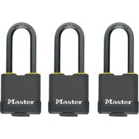 Masterlock Excell Weather Tough Padlock Pack of 3 Keyed Alike 48mm Standard