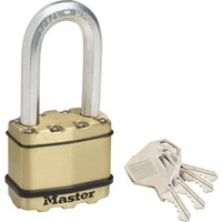 Masterlock Excell Brass Finish Padlock 50mm Long