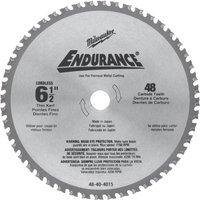 Milwaukee Endurance Metal Steel Cutting Circular Saw Blade 165mm 48T 20mm
