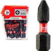 Milwaukee Shockwave Impact Phillips Screwdriver Bit PH2 25mm Pack of 25