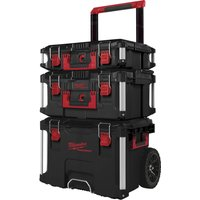 Milwaukee Packout 3 Piece Trolley Tool Case Set