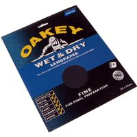 Oakey Flex Wet & Dry Sanding Sheets Medium Pack of 4