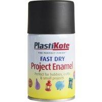 Plastikote Dry Enamel Aerosol Spray Paint Black 100ml