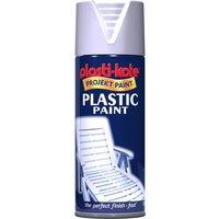 Plastikote Gloss Plastic Aerosol Spray Paint White 400ml